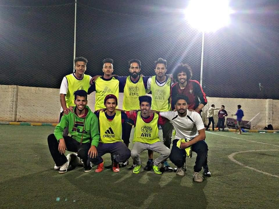 Launching the football league for university students